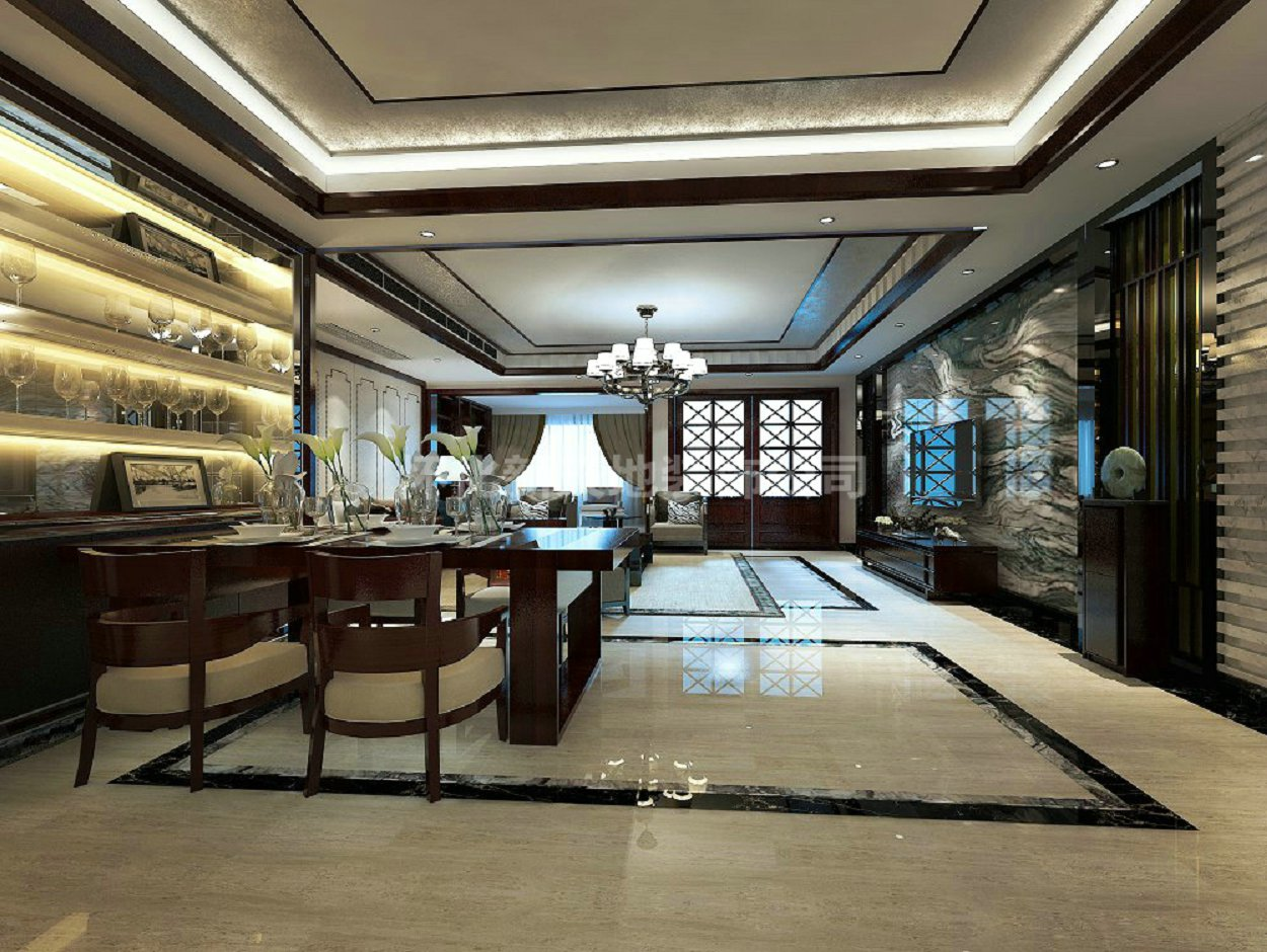 柏景湾:中式新古典风格